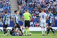 3rd October 2021;  RCDE Stadium, Barcelona, Spain: La Liga Football, Espanyol versus Real Madrid; <br /> Sergi Gomez of RCD Espanyol during the Liga match between RCD Espanyol and Real Madrid at RCDE Stadium in Cornella, Spain.