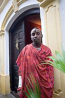 Afrique/Afrique de l'Est/Tanzanie/Zanzibar/Ile Unguja/Stone Town: Hotel Beyt al Chai - le Guerrier Massai qui garde l'entrée