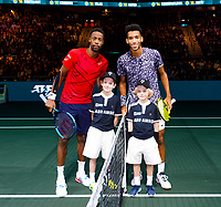 Rotterdam, The Netherlands, 16 Februari 2020, ABNAMRO World Tennis Tournament, Ahoy,<br /> Mens Final: Gaël Monfils (FRA) (L) and Felix Auger-Aliassime (CAN).<br /> Photo: www.tennisimages.com