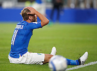 Italy Ciro Immobile reacts during the Fifa World Cup 2018 qualification soccer match between Italy and Spain at Turin's Juventus Stadium, October 6, 2016. The game ended 1-1.<br /> UPDATE IMAGES PRESS/Isabella Bonotto