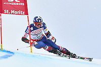February 17, 2017: David CHODOUNSKY (USA) competing in the men's giant slalom event at the FIS Alpine World Ski Championships at St Moritz, Switzerland. Photo Sydney Low