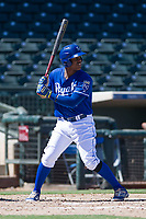Carlos Hernandez (23) of the Kansas City Royals at bat during an Instructional League game against the Cincinnati Reds on October 2, 2017 at Surprise Stadium in Surprise, Arizona. (Zachary Lucy/Four Seam Images)