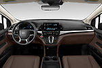 Stock photo of straight dashboard view of 2020 Honda Odyssey EX-L 5 Door Minivan Dashboard