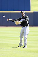 Hector Gomez, Colorado Rockies 2010 spring training, before a game against the Milwaukee Brewers at Maryvale Stadium, Phoenix, AZ - 03/14/2010..Photo by:  Bill Mitchell/Four Seam Images.
