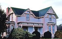 Ferndale CA:  923 Main Street House, c. 1880's. Eastlake & Queen Anne.  Photo '83.