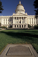 AJ3754, Sacramento, State Capitol, State House, California, State Capitol Building in the capital city of Sacramento in the state of California.