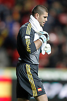 Spain's Victor Valdes during international match of the qualifiers for the FIFA World Cup Brazil 2014.March 22,2013.(ALTERPHOTOS/Acero)