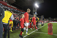 TORONTO, ON - OCTOBER 15: Tim Ream #13 of the United States walking out during a game between Canada and USMNT at BMO Field on October 15, 2019 in Toronto, Canada.