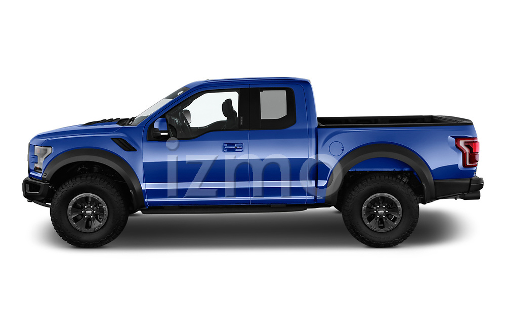 Car driver side profile view of a 2018 Ford F-150 Raptor Select Doors Door Pick Up