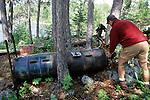 Shay Hurd Working On Bear Trap