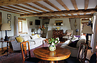 BNPS.co.uk (01202 558833)<br /> Pic: Savills/BNPS<br /> <br /> An impressive Tudor country manor built for King Henry VII's attorney general is on the market for £3.9m.<br /> <br /> The 543-year-old Hales Hall is a historic seven-bedroom home with a moat and about nine acres of grounds.<br /> <br /> It also comes with the largest brick-built Tudor barn in England, which is currently used as a stunning and successful wedding event business.<br /> <br /> There has been a house on the site for 1,000 years, but the current Grade I listed home is the surviving wing of a great Tudor house built by Sir James Hobart in 1478.