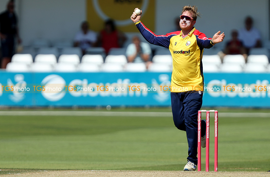 Simon Harmer of Essex in bowling action during Essex Eagles vs Middlesex, Vitality Blast T20 Cricket at The Cloudfm County Ground on 18th July 2021