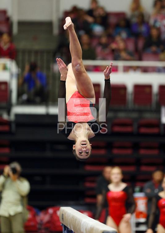 Stanford, CA; Friday February 15, 2013: Women's Gymnastics, Stanford vs Arizona State.