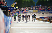 elite bunch of riders sprinting for 2nd place with  John Degenkolb (DEU/Giant-Shimano) being the 'best of the rest'<br /> <br /> Paris-Roubaix 2014