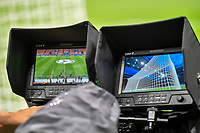 Two camera monitor framing the pitch are seen during the Uefa Champions League group D football match between FC Internazionale and Real Madrid at San Siro stadium in Milano (Italy), September 15th, 2021. Photo Andrea Staccioli / Insidefoto