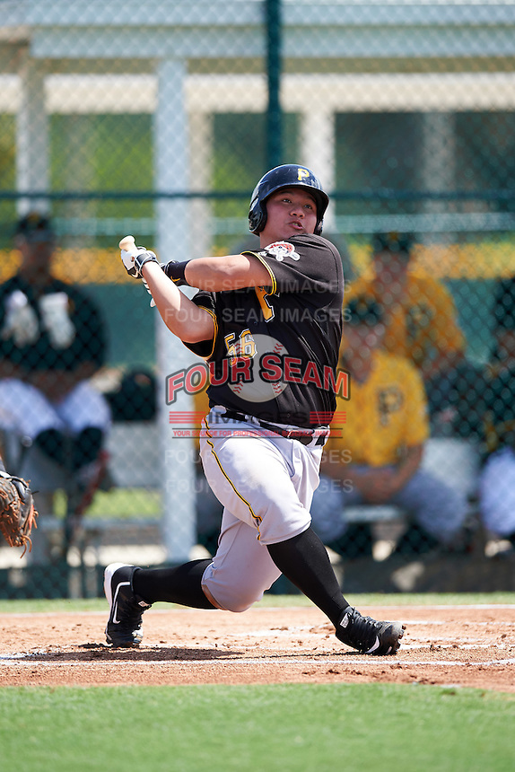 Pittsburgh Pirates Jin-De Jhang (56) during an Instructional League Intrasquad Black & Gold game on September 20, 2016 at Pirate City in Bradenton, Florida.  (Mike Janes/Four Seam Images)