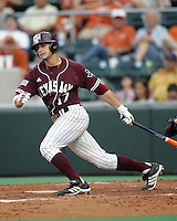 Texas A&M RF Brian Ruggiano bats against Texas on May 16th, 2008 in Austin Texas. Photo by Andrew Woolley / Four Seam images.