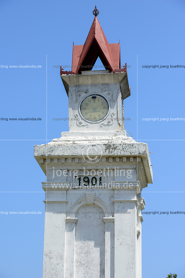 TANZANIA Tanga, former german colony East Africa, colonial german building, clock tower built 1901