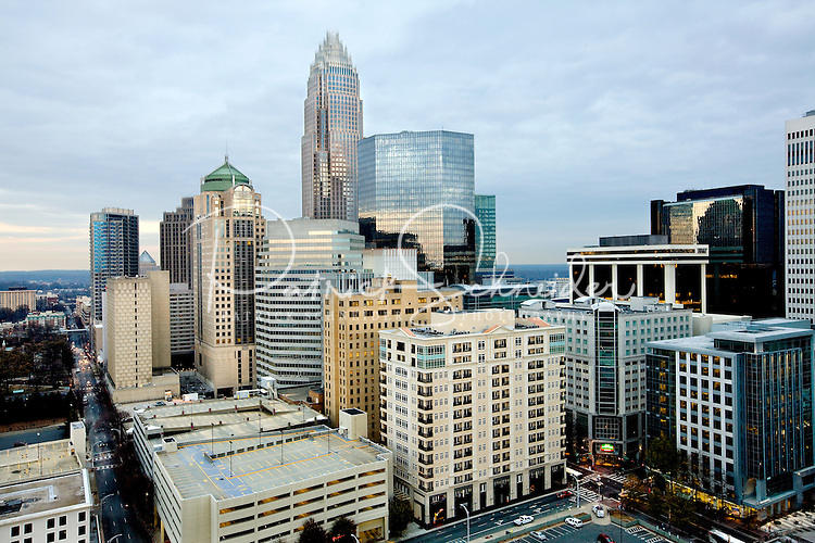 An angle on the Charlotte North Carolina skyline that shows how much this vibrant Southern City has grown up in recent years.