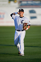 Connecticut Tigers Nick Ames (35) warms up before a game against the Hudson Valley Renegades on August 20, 2018 at Dodd Stadium in Norwich, Connecticut.  Hudson Valley defeated Connecticut 3-1.  (Mike Janes/Four Seam Images)