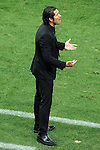 Atletico de Madrid's coach Diego Pablo Cholo Simeone during La Liga match.September 24,2013. (ALTERPHOTOS/Acero)