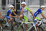 Ivan Basso (ITA) Liquigas-Cannondale waits to go on stage at the Team Presentation Ceremony before the 2012 Tour de France in front of The Palais Provincial, Place Saint-Lambert, Liege, Belgium. 28th June 2012.<br /> (Photo by Eoin Clarke/NEWSFILE)