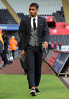 Kyle Naughton of Swansea City arrives prior to the game during the Premier League match between Swansea City and Watford at The Liberty Stadium, Swansea, Wales, UK. Saturday 23 September 2017