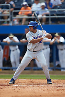 Keenan Bell (32) of the Florida Gators at bat against the Wake Forest Demon Deacons in the completion of Game Two of the Gainesville Super Regional of the 2017 College World Series at Alfred McKethan Stadium at Perry Field on June 12, 2017 in Gainesville, Florida. The Demon Deacons walked off the Gators 8-6 in 11 innings. (Brian Westerholt/Four Seam Images)