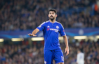 Diego Costa of Chelsea calms things down during the UEFA Champions League Group G match between Chelsea and Dynamo Kyiv at Stamford Bridge, London, England on 4 November 2015. Photo by Andy Rowland.