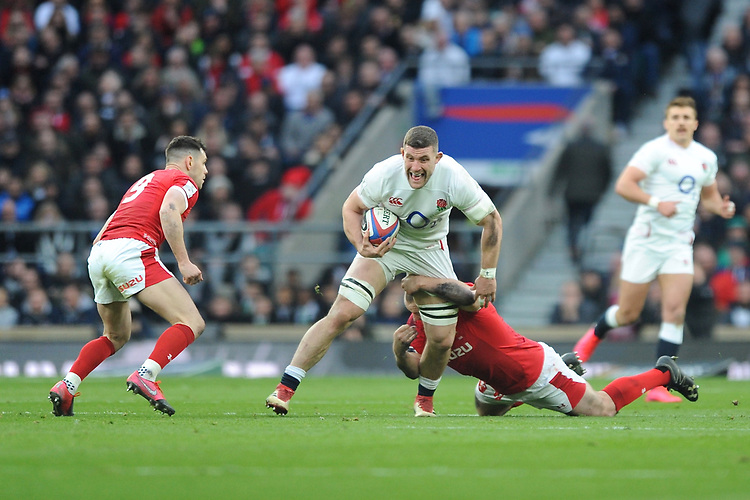 Mark Wilson of England in action during the Guinness Six Nations match between England and Wales at Twickenham Stadium on Saturday 7th March 2020 (Photo by Rob Munro/Stewart Communications)