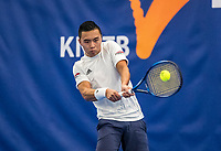 Amstelveen, Netherlands, 14  December, 2020, National Tennis Center, NTC, NK Indoor, National  Indoor Tennis Championships, Qualifying:  Jing Long Weng (NED) <br /> Photo: Henk Koster/tennisimages.com