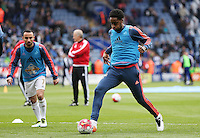 Leroy Fer of Swansea City warms up before the Barclays Premier League match between Leicester City and Swansea City played at The King Power Stadium, Leicester on April 24th 2016