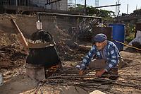 Armenia. Ararat Province. Byuravan.  An old man distils an alcohol (raisin/grape spirit) to a maximum of 94.55% abv. Byuravan is a village located in the Ararat Province. 1.10.2019 © 2019 Didier Ruef