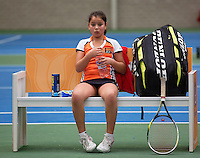 20131201,Netherlands, Almere,  National Tennis Center, Tennis, Winter Youth Circuit, Lienka Ammar   <br /> Photo: Henk Koster