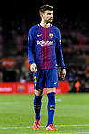 Gerard Pique Bernabeu of FC Barcelona in action during the Copa Del Rey 2017-18 match between FC Barcelona and Valencia CF at Camp Nou Stadium on 01 February 2018 in Barcelona, Spain. Photo by Vicens Gimenez / Power Sport Images