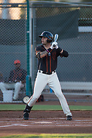 AZL Giants Black designated hitter Frankie Tostado (10) at bat during an Arizona League game against the AZL Angels at the San Francisco Giants Training Complex on July 1, 2018 in Scottsdale, Arizona. The AZL Giants Black defeated the AZL Angels by a score of 4-2. (Zachary Lucy/Four Seam Images)