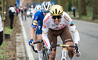 Greg Van Avermaet (BEL/AG2R Citroën) up the Tiegemberg<br /> <br /> 64th E3 Classic 2021 (1.UWT)<br /> 1 day race from Harelbeke to Harelbeke (BEL/204km)<br /> <br /> ©kramon