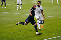 SAN JOSE, CA - SEPTEMBER 16: Judson #93 of the San Jose Earthquakes is marked by Eryk Williamson #30 of the Portland Timbers during a game between Portland Timbers and San Jose Earthquakes at Earthquakes Stadium on September 16, 2020 in San Jose, California.