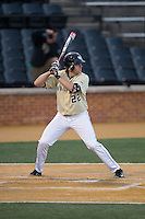 Will Craig (22) of the Wake Forest Demon Deacons at bat against the UConn Huskies at Wake Forest Baseball Park on March 17, 2015 in Winston-Salem, North Carolina.  The Demon Deacons defeated the Huskies 6-2.  (Brian Westerholt/Four Seam Images)