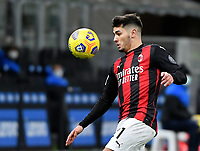 Football Soccer: Tim Cup Quarter Finals InternazionaleMIlan vs Milan, Giuseppe Meazza Stadium (San Siro) Milan, on January 26, 2021.<br /> Milan's Brahim Diaz in action during the Italian Tim Cup football match between Inter  and Milan at the Giuseppe Meazza stadium in Milan, January 26, 2021.<br /> UPDATE IMAGES PRESS/Isabella Bonotto