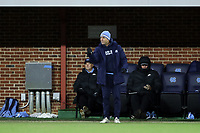 CHAPEL HILL, NC - NOVEMBER 16: Assistant coach Damon Nahas of the University of North Carolina during a game between Belmont and North Carolina at UNC Soccer and Lacrosse Stadium on November 16, 2019 in Chapel Hill, North Carolina.