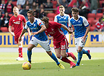 St Johnstone v Aberdeen…01.07.17  McDiarmid Park     Pre-Season Friendly <br />Chris Millar gets away from Ryan Christie<br />Picture by Graeme Hart.<br />Copyright Perthshire Picture Agency<br />Tel: 01738 623350  Mobile: 07990 594431