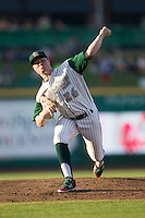 Fort Wayne TinCaps pitcher Logan Allen (26) delivers a pitch to the plate against the West Michigan Whitecaps on May 23, 2016 at Parkview Field in Fort Wayne, Indiana. The TinCaps defeated the Whitecaps 3-0. (Andrew Woolley/Four Seam Images)