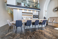 BNPS.co.uk (01202) 558833. <br /> Pic: LuxuryAndPrestige/BNPS<br /> <br /> Pictured: Kitchen.  <br /> <br /> A heavenly converted chapel that has been transformed into a contemporary home is on the market for £1.5m.<br /> <br /> The Old Chapel was used by an order of nuns for 139 years before the humble church got a stylish upgrade into a four-bedroom property.<br /> <br /> The Grade II listed building has been carefully restored to retain stunning ecclesiastical features like windows, archways and doors, but with a modern twist.<br /> <br /> And although the owner bought it from the developer before it was finished, the stunning home has never been lived in.