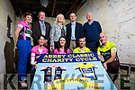 Abbeyfeale Cycling Club launching their charity cycle for St Gabriel's which takes place on Sunday 14th August with a 60k and 110k route, pictured here in Leen's Hotel, Abbeyfeale last Friday night. F l-r: Jane Dore, Sarah McGroary, Declan Murphy, Brendan Brosnan. B l-r: Lisa Keogh, Mayor Liam Galvin, Kate Sheehan-St Gabriel's, Minister Patrick O'Donovan and Edmund O'Donoghue-Chair Person, Abbeyfeale Cycling Club.