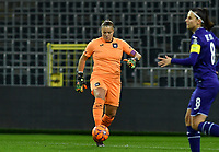 Anderlecht goalkeeper Justine Odeurs (13) pictured during a female soccer game between RSC Anderlecht Dames and Northern Irish Linfield Ladies  in the first qualifying round for the Uefa Womens Champions League of the 2020 - 2021 season , Wednesday 4 th of November 2020  in ANDERLECHT , Belgium . PHOTO SPORTPIX.BE | SPP | DAVID CATRY