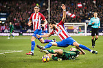 Yannick Ferreira Carrasco of Atletico de Madrid battles for the ball with Daniel Ceballos Fernandez 'Dani Ceballos' of Real Betis Balompie during their La Liga 2016-17 match between Atletico de Madrid vs Real Betis Balompie at the Vicente Calderon Stadium on 14 January 2017 in Madrid, Spain. Photo by Diego Gonzalez Souto / Power Sport Images