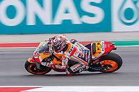 2nd October 2021; Austin, Texas, USA;  Marc Marquez (93) - (SPA) riding a Honda for the Repsol Honda Team at turn 19 during Free Practise 3 at the MotoGP Red Bull Grand Prix of the Americas held October 2, 2021 at the Circuit of the Americas in Austin, TX.