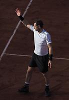 Andy Murray<br /> day 11, Roland Garros 2017. Paris, France, 07/06/2017. # TOURNOI DE TENNIS DE ROLAND-GARROS - 07 JUIN 2017