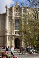 Restaurant und Pester Redoute am Donaukorso, Dunakorzó, Budapest, Ungarn, UNESCO-Weltkulturerbe